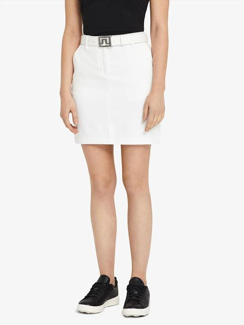 Womens Allie Micro Stretch Skirt White