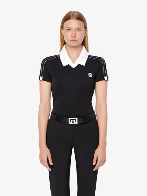Womens Sana TX Jersey Polo Black