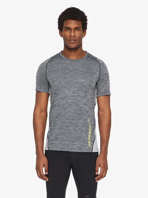 Mens Sandy Melange Jersey T-shirt Granite