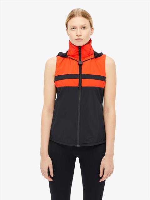 Womens Kiera Lux Softshell Vest Racing Red