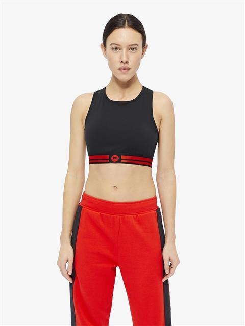 Womens Alexis Compression Sports Bra Top Black