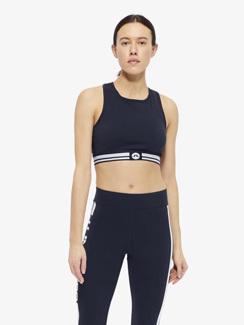 Womens Alexis Compression Sports Bra Top JL Navy
