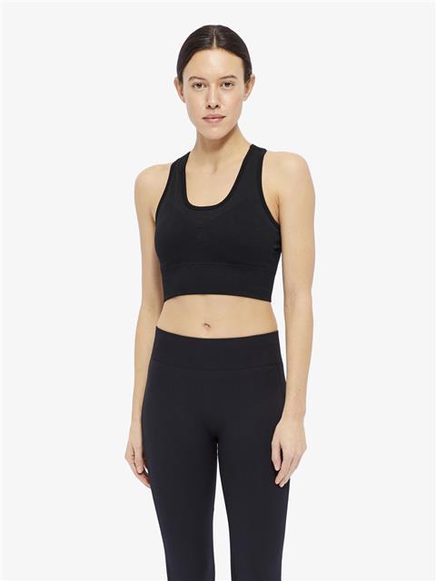 Womens Ebba Seamless Sports Bra Top Black