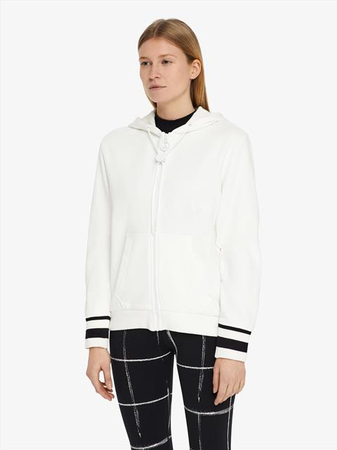 Womens Cyra French Terry Hoodie White