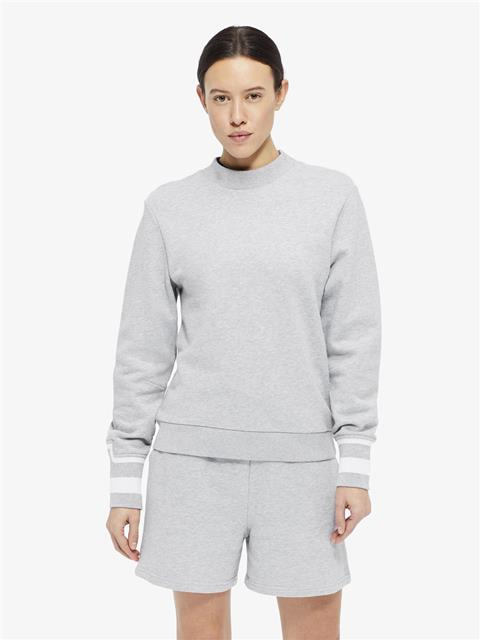 Womens Mallo French Terry Sweatshirt Stone Grey Melange