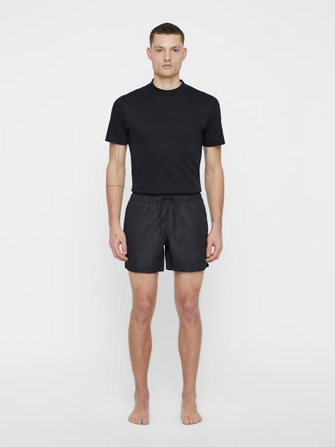 Mens Banks Solid Swim Black