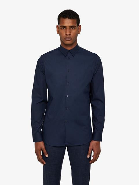 Mens Daniel Clean Poplin Shirt JL Navy