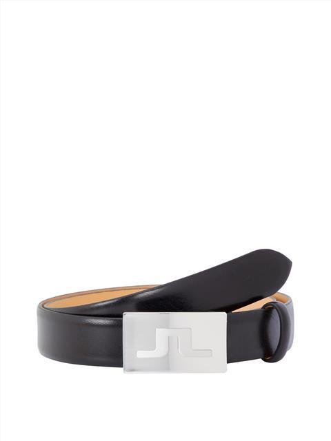 Mens Shine Leather Belt Black