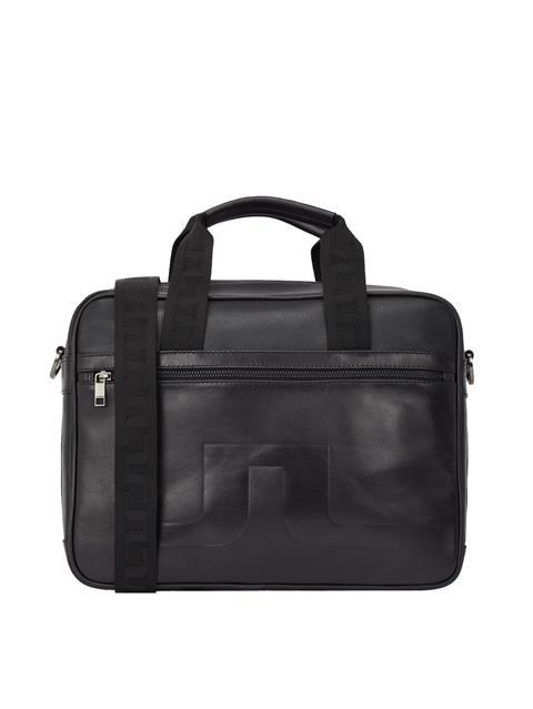 Mens Leather Messenger Bag Black