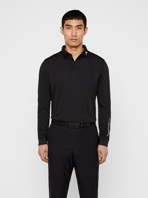 Mens Tour Tech Long-Sleeve TX Jersey Polo Black