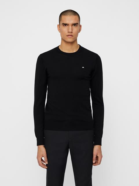 Mens Lyle True Merino Sweater Black