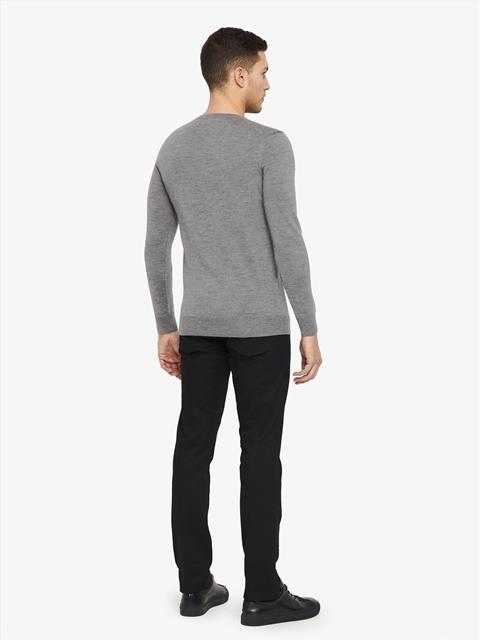 Mens Lyle True Merino Sweater Grey Melange