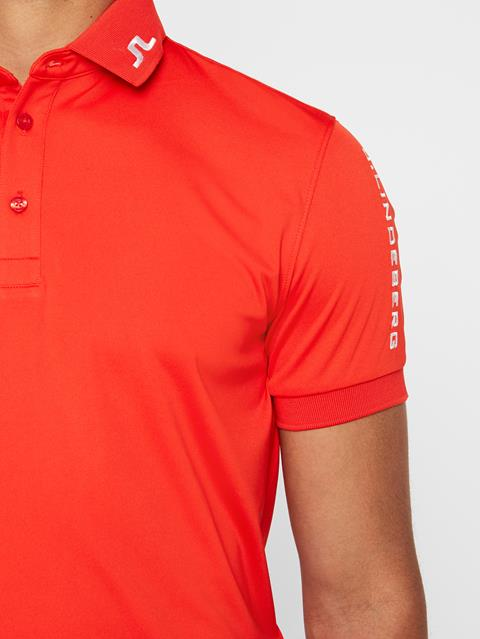Mens Tour Tech Slim TX Jersey Polo Racing Red