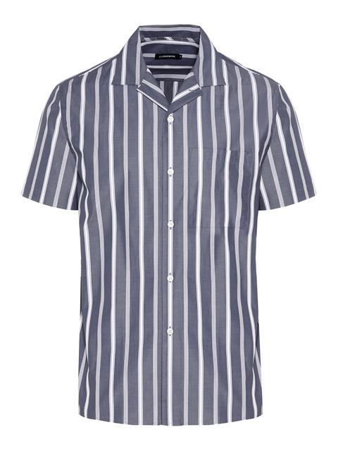 Mens David Pop Stripe Shirt JL Navy