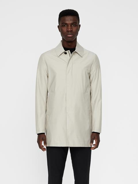 Mens Carter Storm System Coat Silver Cloud