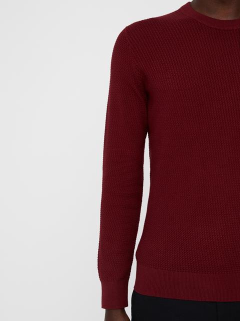 Mens Chester Mini Structure Sweater Cabarnet