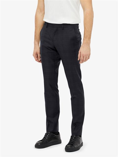 Mens Paulie Note Check Pants JL Navy