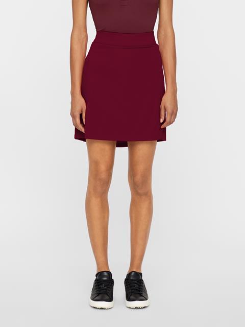 Womens Amelie Long TX Jersey Skirt Dark Mahogany