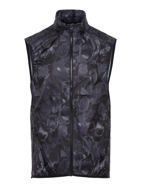 Mens Yosef Trusty Vest Black Sports Camo