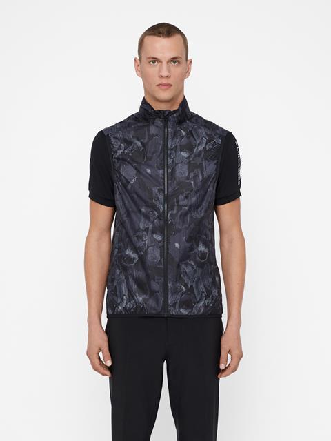 Mens Yosef Trusty Vest Black Sports Camo