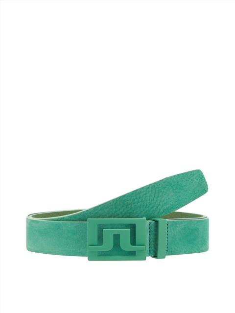 Mens Slater 40 Brushed Leather Belt Fresh Green