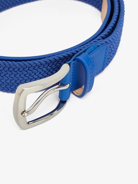 Mens Caspian Elastic Braid Belt Daz Blue