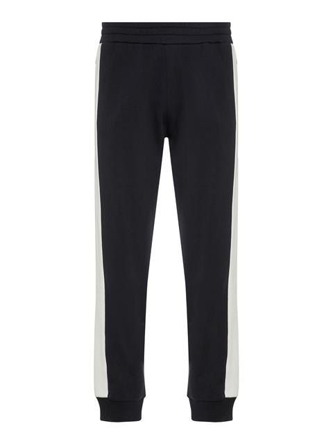 Mens Pat French Terry Sweatpants Black