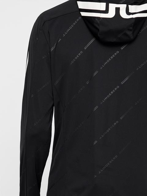 Mens Calin TX Jersey Hooded Layer Black Print