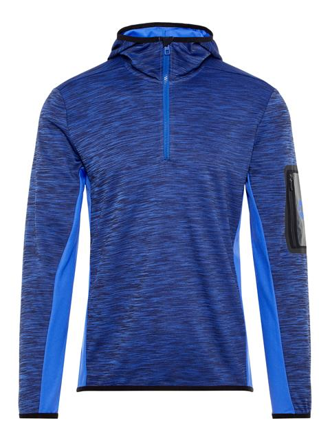 Womens Curved Running Jersey Hoodie Daz Blue