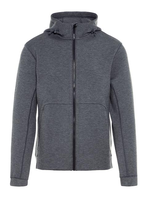 Mens Athletic Tech Sweat Hoodie Grey Melange