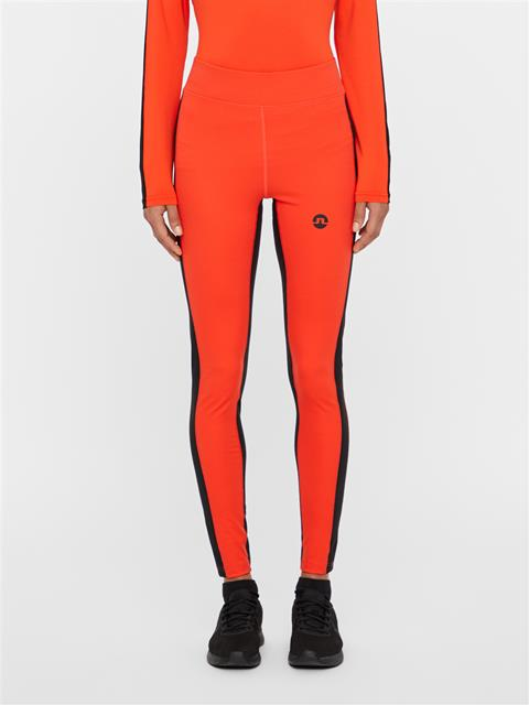 Womens Elah Compression Leggings Poppy Red
