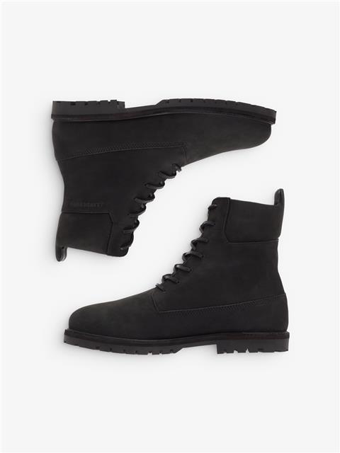 Mens Tank High Top Boots Black