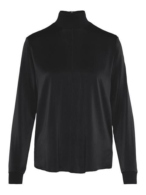 Womens Heidi Washed Silk Shirt Black