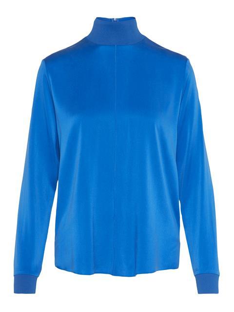 Womens Heidi Washed Silk Shirt Wonder Blue