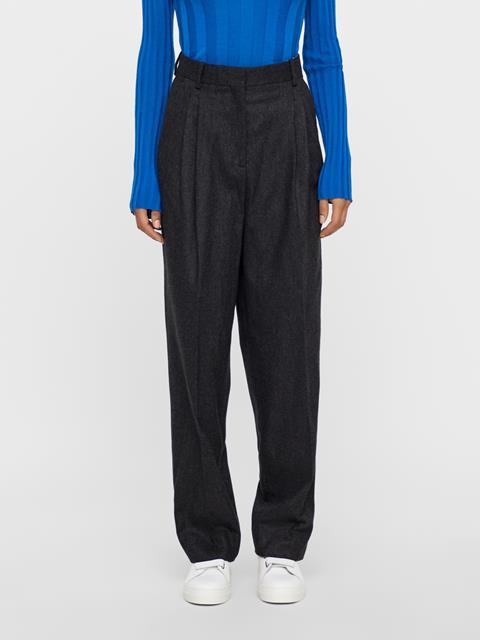 Womens Avalon Wool Flannel Pants Dk Grey