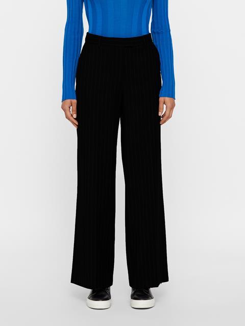 Womens Kori Wool Pin Pants Black