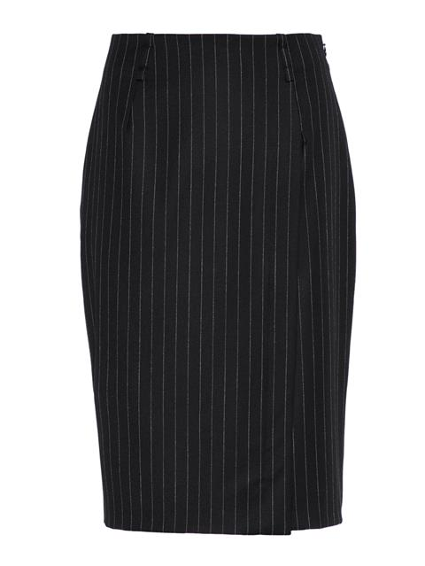 Womens Silva Wool Pin Pencil Skirt Black Stripe