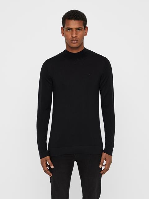 Mens Newman Perfect Turtleneck Merino Sweater Black