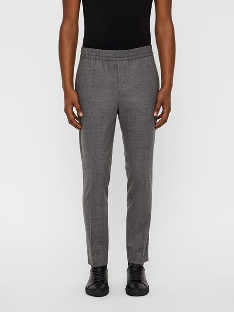 Mens Sasha Drawstring Flannel Pants Stone Grey