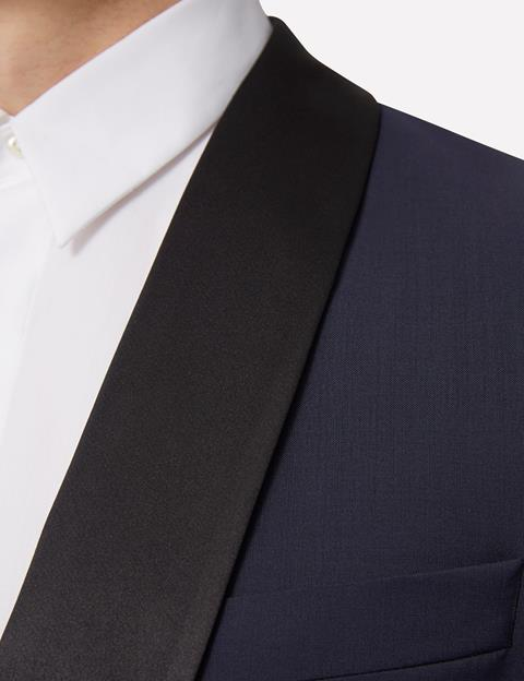 Mens Savile Comfort Wool Tux Jacket Navy