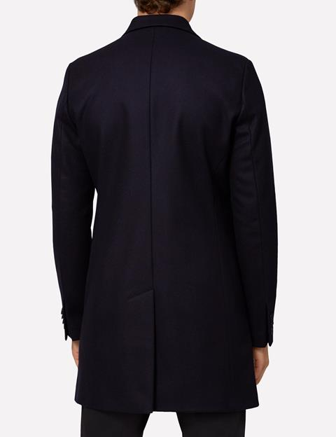 Mens Wolger Compact Melton Coat Black
