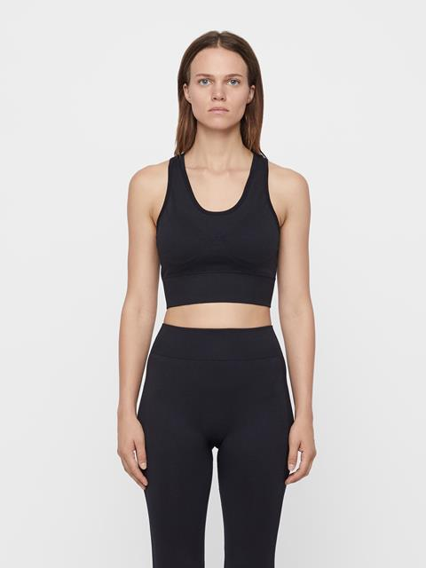 Womens Ebba Seamless Sports Bra Black