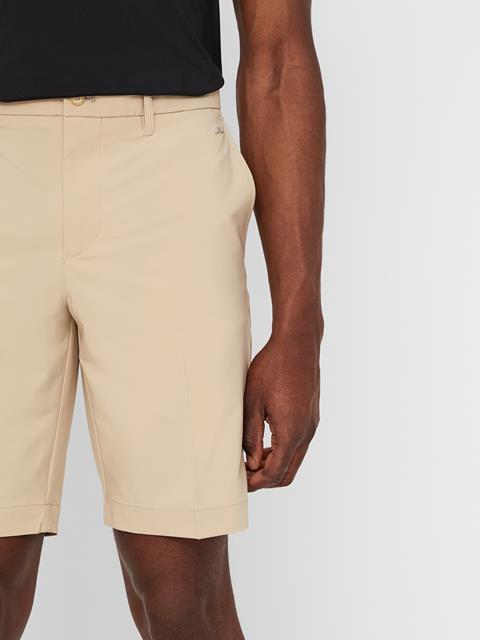 Mens Eloy Tapered Micro Stretch Shorts Safari Beige