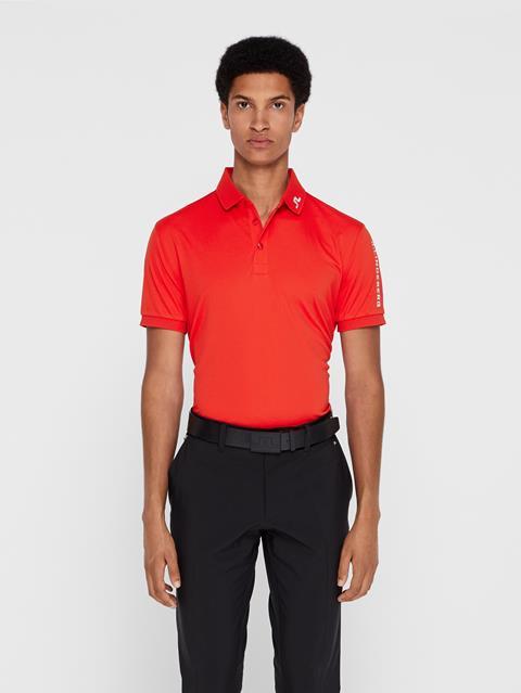 Mens Tour Tech TX Jersey Polo - Regular Fit Racing Red