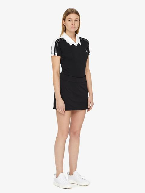 Womens Amelie TX Jersey Mini Skirt Black