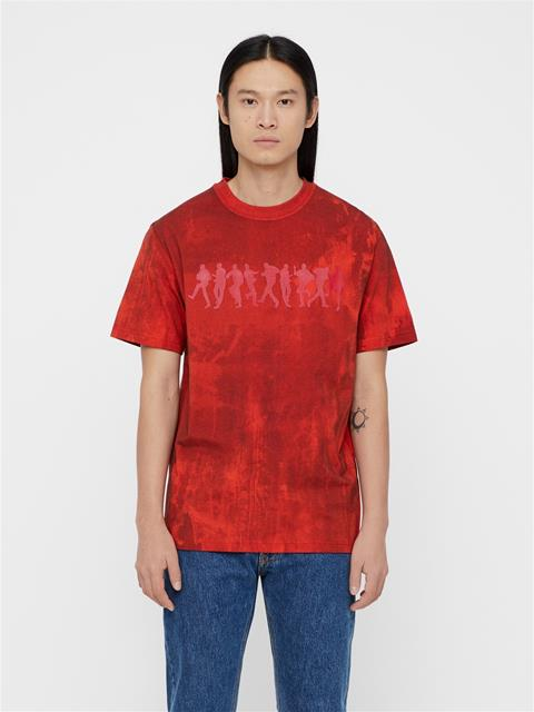 Mens Jordan Distinct Cotton T-shirt Molten Lava