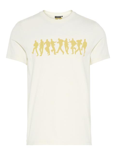 Mens Bridge Graphic Cotton T-shirt Ivory White