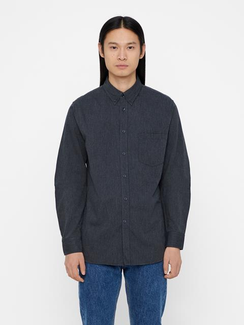 Mens Daniel-Flannel Shirt Grey Melange