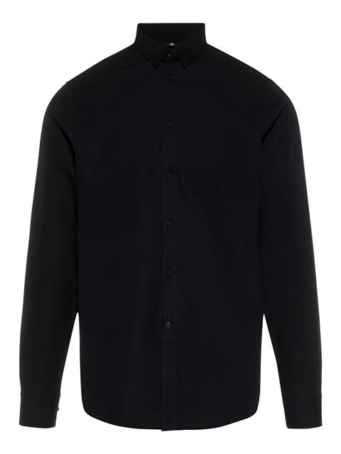 Mens Daniel-Refined Pique Shirt Black