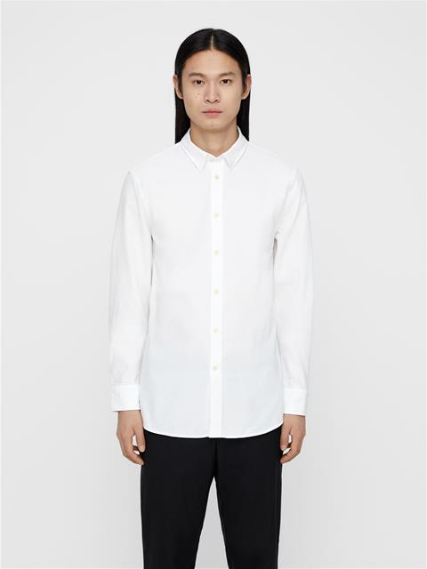 Mens Daniel-Refined Pique Shirt White
